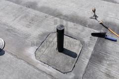 Ugrađen parootparivač za otparivanje sloja za pad ravnog krova