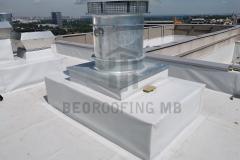 Hidroizolaciona obrada prodora sintetičkom PVC membranom na kuli 1