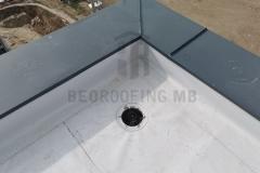Hidroizolaciona obrada krovnog slivnika sa sintetičkom PVC membranom