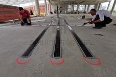 Lepljenje karbonske trake u zoni iznad oslonca (stuba)