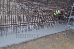 Penetracioni premaz na spoju temeljne grede i stuba radi sprečavanja penjanja kapilarne vlage po visini zida